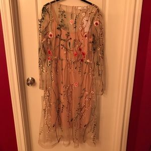 NWT JustFab Embroidered Flower Dress